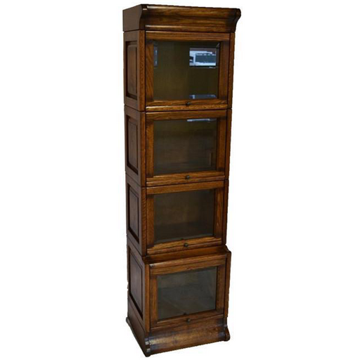 PREORDER Mission Narrow Barrister Bookcase - Beveled Glass - Crafters and Weavers