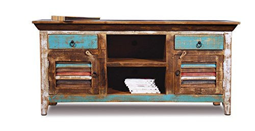 Greenview Weathered Gray TV Stand - 70 INCH