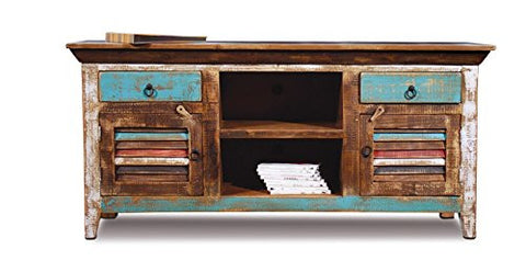 La Boca Shutter TV Stand - Crafters & Weavers - 1
