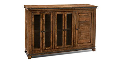 Addison Rustic Style Solid Wood Sideboard Cabinet / Media Console - Crafters & Weavers - 1