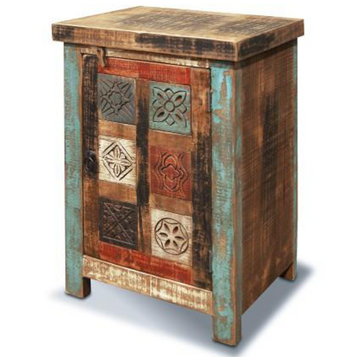 La Boca Carved Bedside Table - Crafters and Weavers