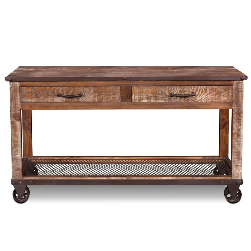 Addison Loft Caster Wheel Console Table