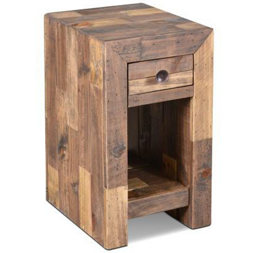 Fulton 1 Drawer Side Table / Night Stand - Crafters and Weavers