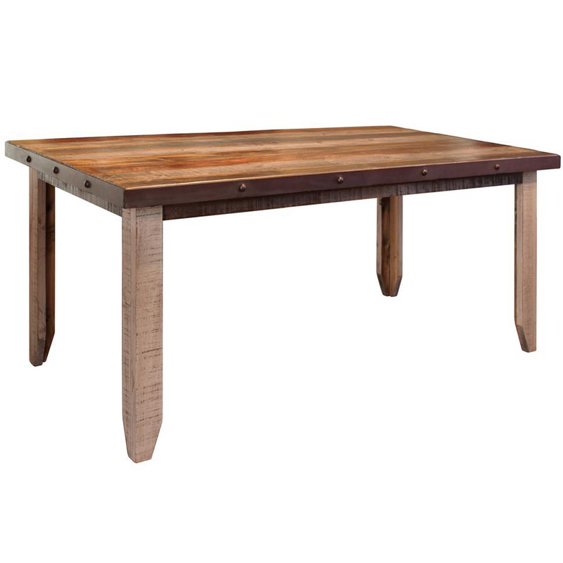 "Granville Parota 79"" Dining Table - Iron Base"