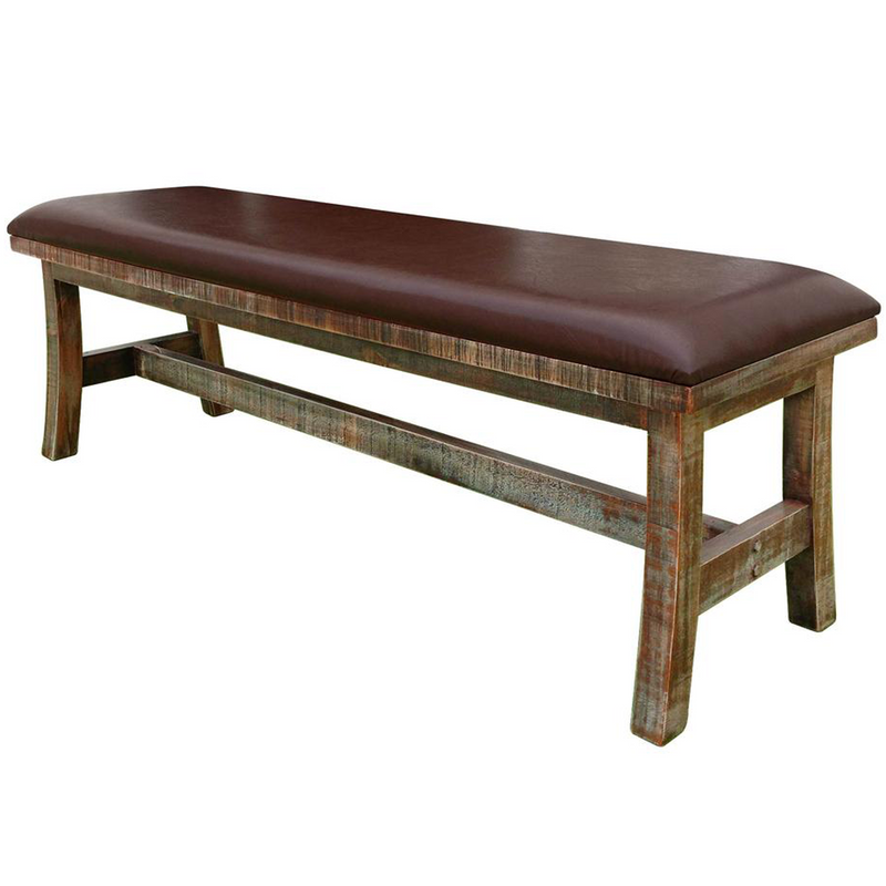 Greenview Dining Bench - Rustic Brown