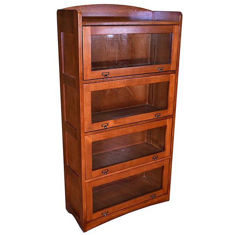 Mission Style Quarter Sawn Oak 4 Stack Barrister Bookcases