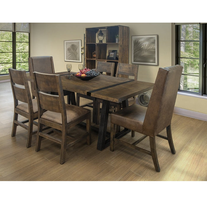 """Maxwell Rustic Industrial 78"""" Dining Table Set with 6 ..."""