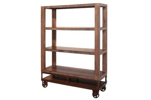 "Greenview Forged Iron Base Bookcase - 55""H"