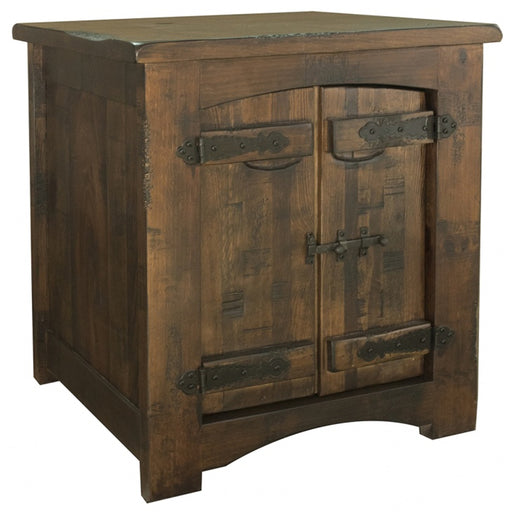 Atlantic 2 Door End Table - Crafters and Weavers