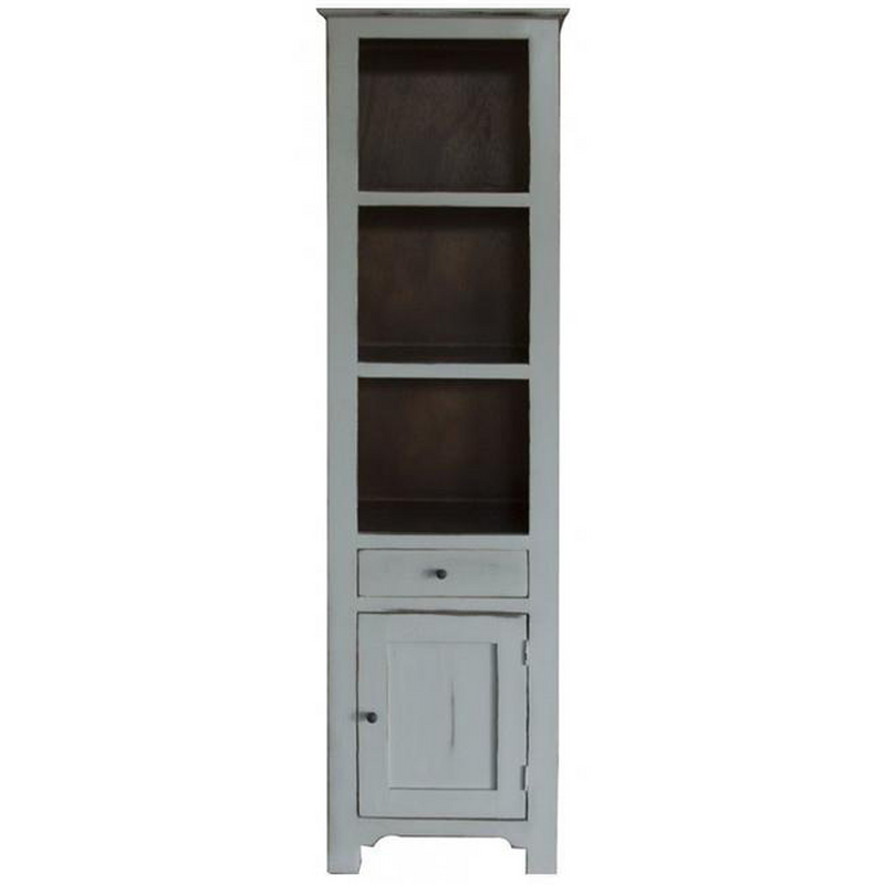 Bayshore Distressed Pier Bookcase - Gray