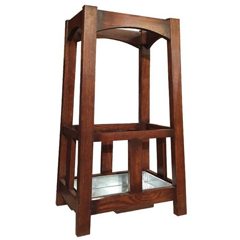 Arts & Crafts Mission Oak Umbrella Stand