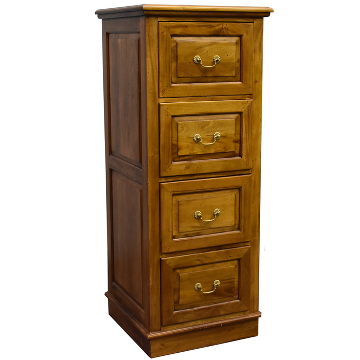 Legacy 4 Drawer File Cabinet - Light Brown Walnut