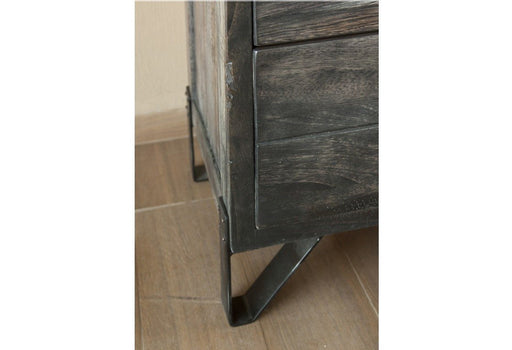 Sawyer Parota Wood 2 Drawer Nightstand 26'' - Crafters and Weavers