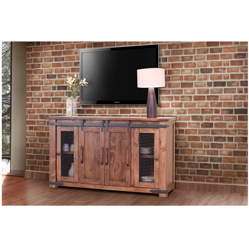 Granville Parota Sliding 4 Door TV Stand - 60""