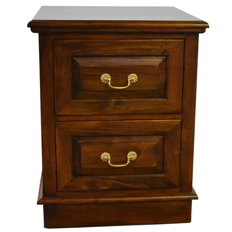 Legacy 2 Drawer File Cabinet - Brown Walnut