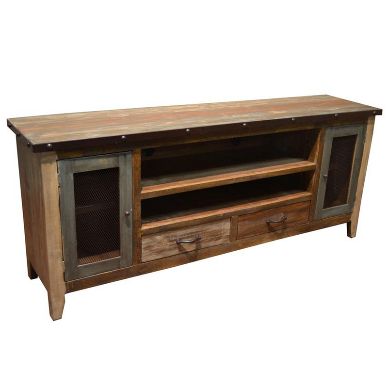 La Boca Glass Door TV Stand - 55""
