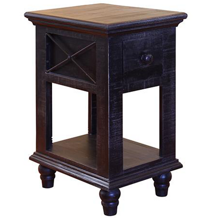 Greenview Charcoal Side Table
