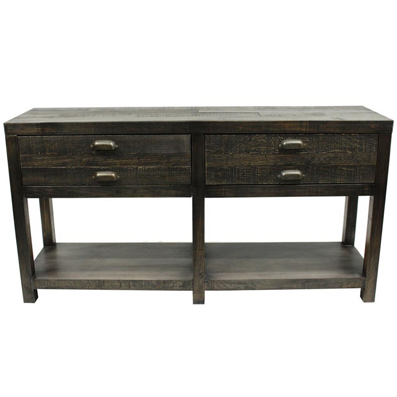 Emerson 2 Drawer Console Table - Distressed Black