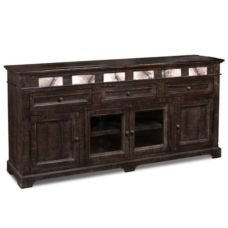 """Onyx 82"""" Rustic Sideboard TV Stand"""
