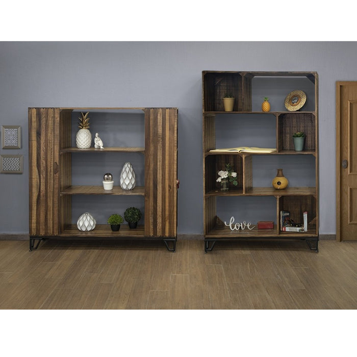 "Riverwalk Modern Pallet Style Bookcase - Brown - 70""H"