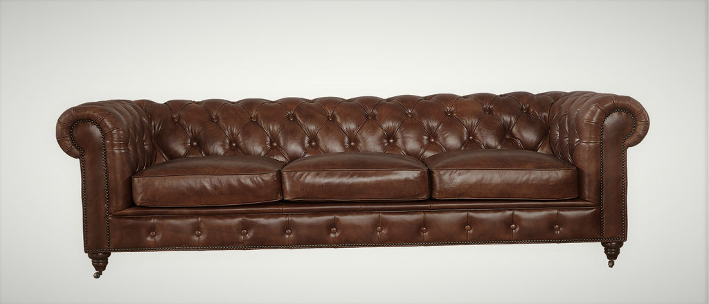 ... Leather Chesterfield Sofa   Medium Brown Leather ...