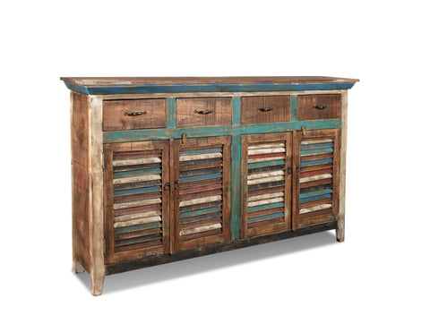 Arts & Crafts Library Table Desk with Spindles and 3 Drawers - Crafters & Weavers - 1