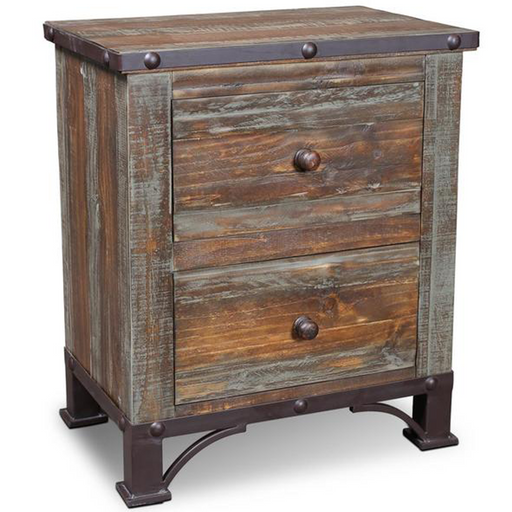 Logan Boulevard 2 Drawer Nightstand - Crafters and Weavers
