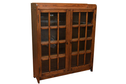 Mission Oak 2 Door Bookcase