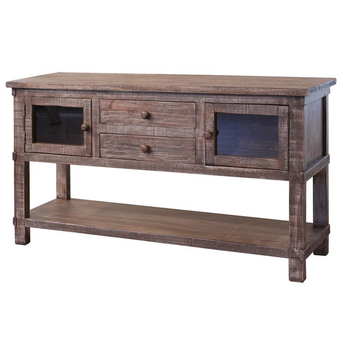 Greenview Weathered Gray Console Table