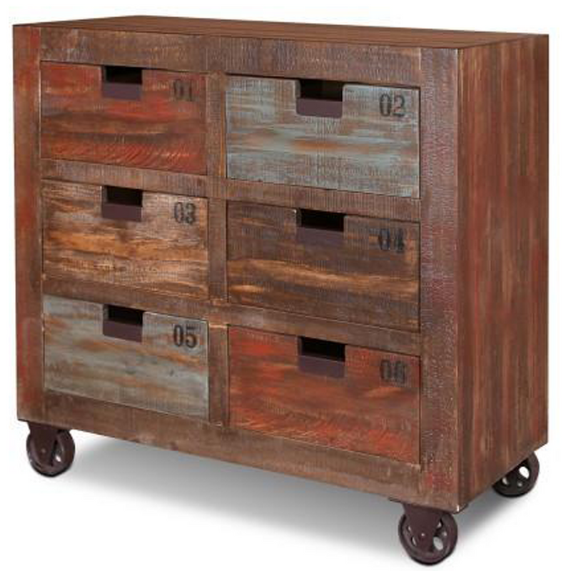 Bayview Rustic Solid Wood 6 Drawer Dresser