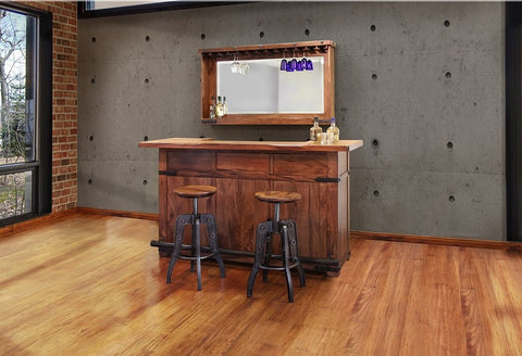 "Granville Parota 66"" Bar Table with Wine Rack"