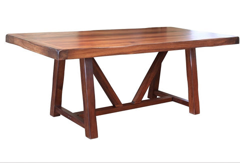 "Granville 79"" Dining Table with Wood Base - Parota"