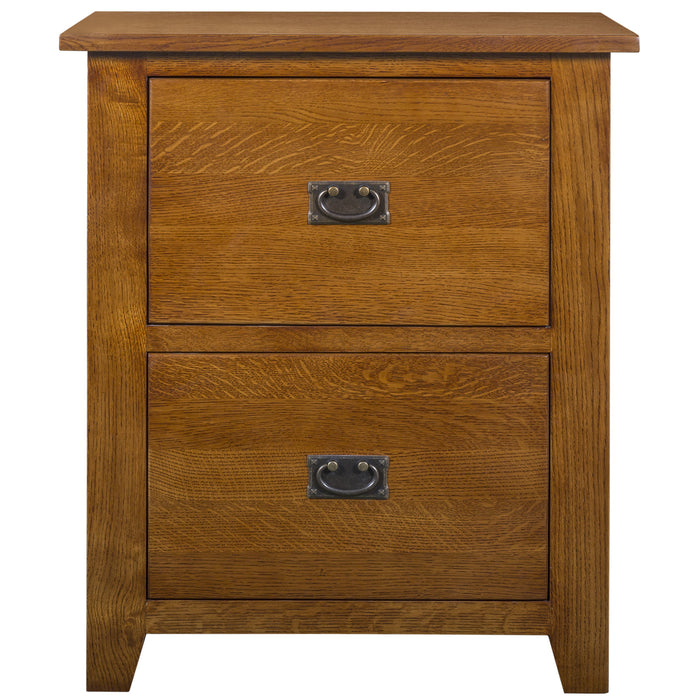 Mission 2 Drawer File Cabinet - Michael's Cherry (MC-A)