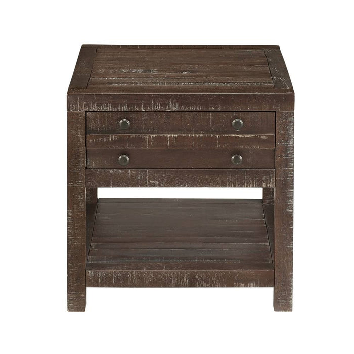 Emery Rustic 1 Drawer End Table