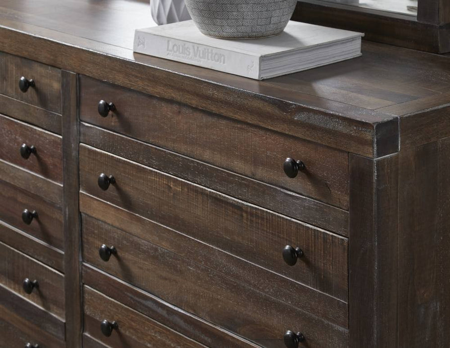 Emery Rustic 8 Drawer Dresser
