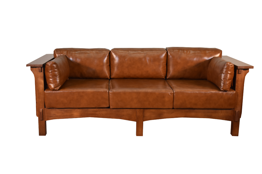 Crofter Style Sofa - Russet Leather