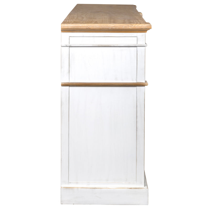 "Asbury 90"" Solid Wood Sideboard - White"