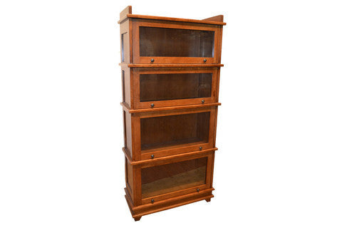 Arts And Crafts Mission Style 4 Stack Oak Barrister Bookcase