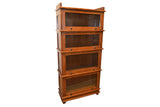 Arts and Crafts / Mission Style 4 Stack Oak Barrister Bookcase - Crafters & Weavers - 1