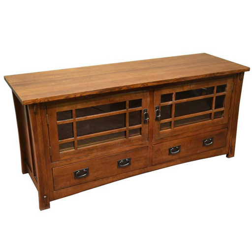 PREORDER Mission Quarter Sawn Oak TV Stand - Crafters and Weavers
