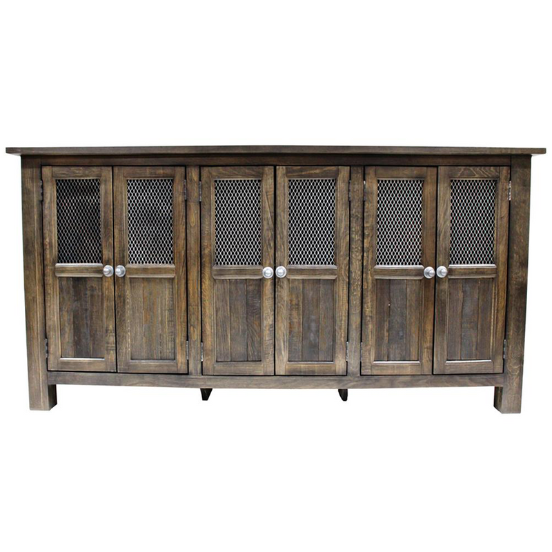Gaines 6 Door Sideboard - Distressed Black