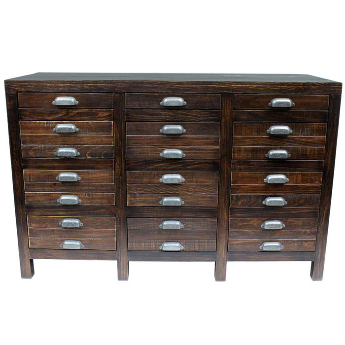 Emerson 12 Drawer Sideboard - Dark Pine - 54""