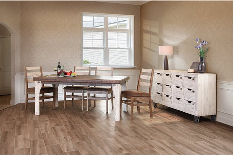 "Greenview 71"" Two-Tone Dining Table Set with 6 Chairs"