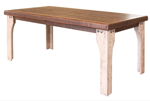 Greenview Two-Tone Dining Table - 71 inch