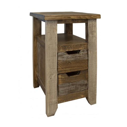 Bayshore 2 Drawer Side Table - Crafters and Weavers