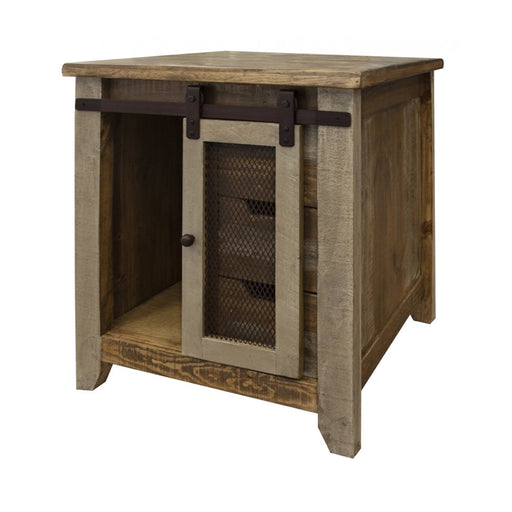 Bayshore Sliding Door / 3 Drawer End Table - Crafters and Weavers