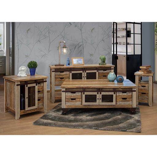 Bayshore Sliding Door Living Room Table Set - Crafters and Weavers