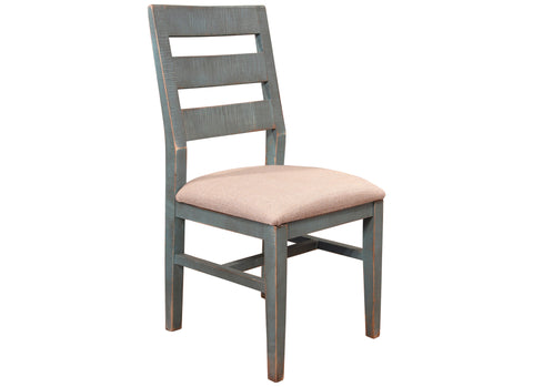 Bayshore Distressed Teal Blue Dining Chair #969