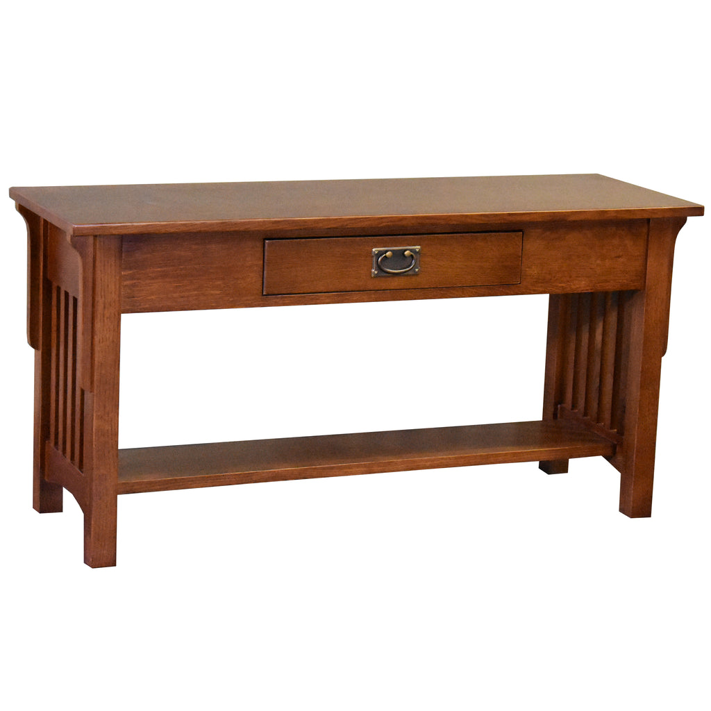 Mission 1 Drawer Crofter Style Console Table - Michael's Cherry Stain