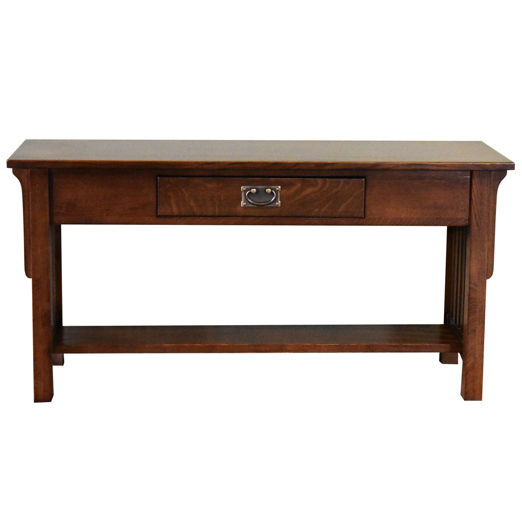 Mission 1 Drawer Crofter Style Console Table - Walnut Stain